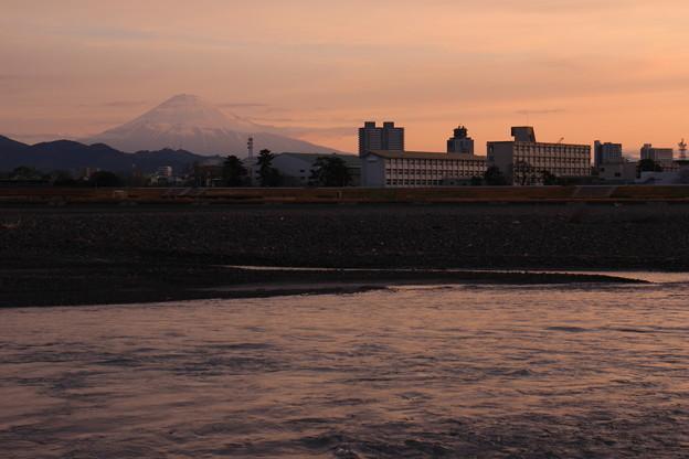 富士山と安倍川