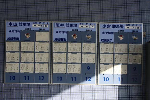 16 中央競馬競走成績掲示板