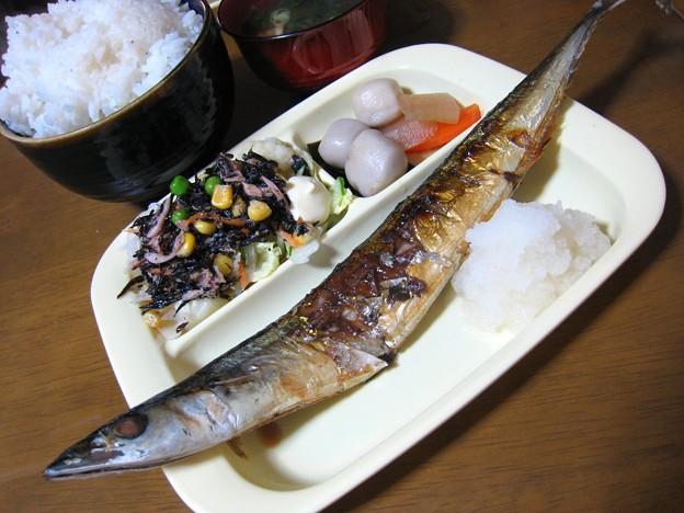 久々の塩秋刀魚…