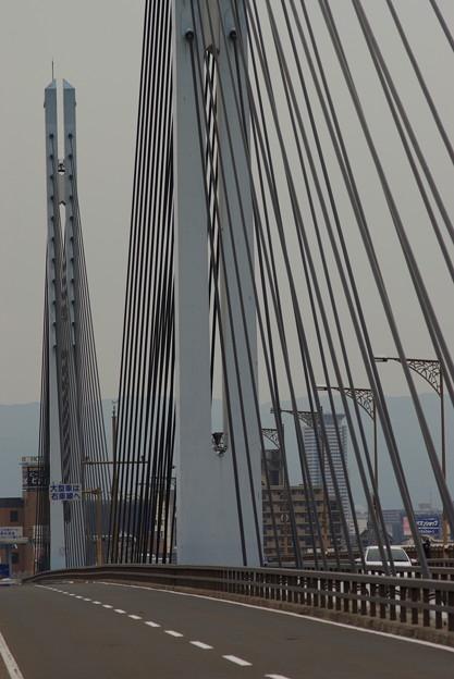 斜張橋のケーブル