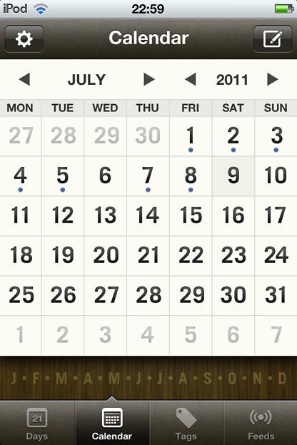 Photos: 20110711Momento/カレンダー画面