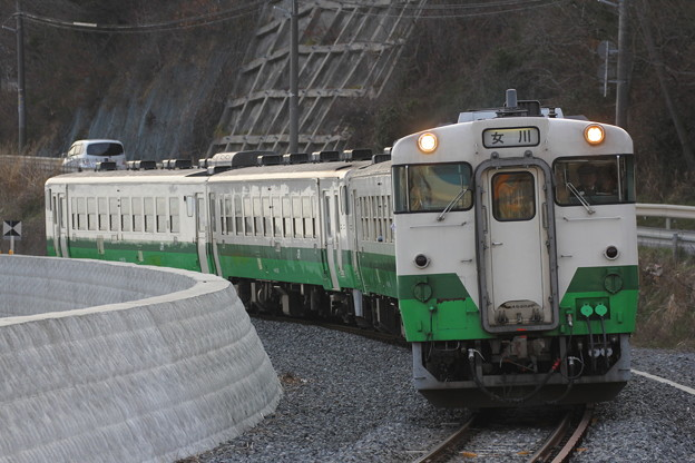 キハ40形2000番台キハ40-2026 普通女川行き