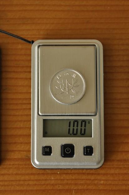 1円は1.00g