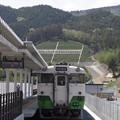 女川駅にやってきたキハ48形ワンマンカー