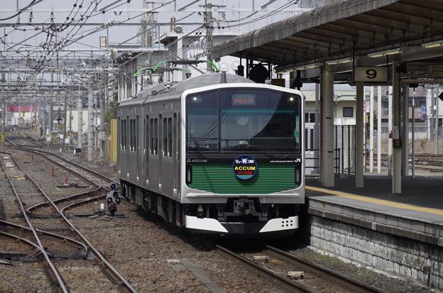 宇都宮駅に到着するEV-E301系ACCUM