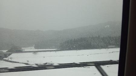 新幹線の車窓から、関ヶ原あたりかな2
