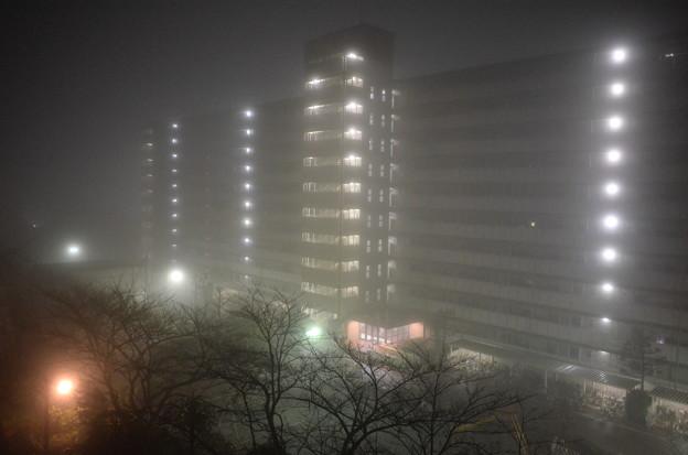 霧中のマンション