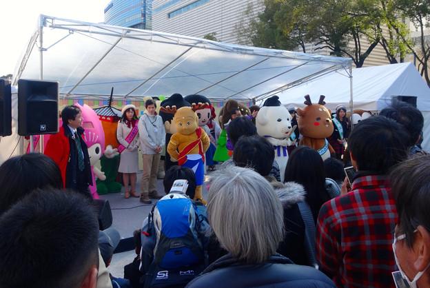 旅まつり名古屋 2015 No - 049:沢山の奈良県キャラによるステージイベント