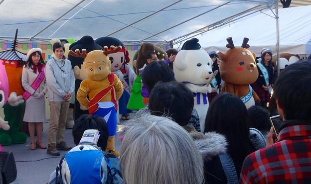 旅まつり名古屋 2015 No - 050:沢山の奈良県キャラによるステージイベント
