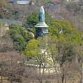 写真: 東山給水塔の一般公開 No - 055:展望階から見た景色(日泰寺の慰霊碑)
