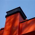 Photos: 大須観音:鳥居の上に、鳩避け用の仕掛け