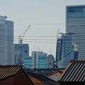 写真: 松重閘門付近から見上げた名駅ビル群 - 2