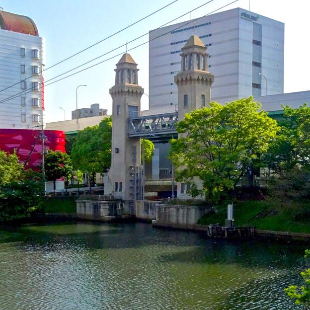 堀川:松重橋から見た松重閘門 - 5