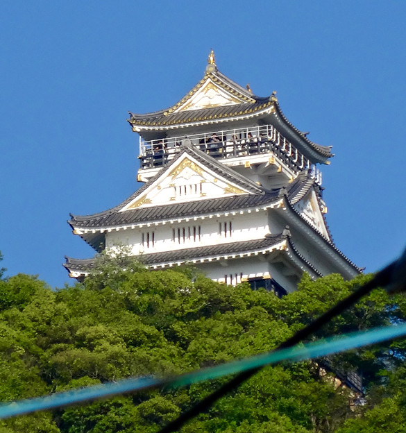 金華山の麓から見上げた岐阜城 - 4