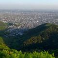 写真: 岐阜公園:展望レストランの展望台から見た、夕暮れ時の景色 - 12(木曽川方面)