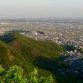 写真: 岐阜公園:展望レストランの展望台から見た、夕暮れ時の景色 - 20(木曽川方面)