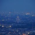 岐阜公園:展望レストランの展望台から見た夜景 - 3(ツインアーチ138)