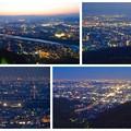 岐阜公園:展望レストランの展望台から見た夜景 - 29