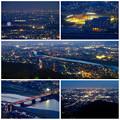 岐阜公園:展望レストランの展望台から見た夜景 - 31