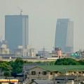 写真: エアポートウォーク3階フードコートから見た、名駅ビル群 - 9