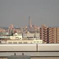 写真: エアポートウォーク名古屋:展望デッキから見た、夕暮れ時の東山スカイタワー - 1