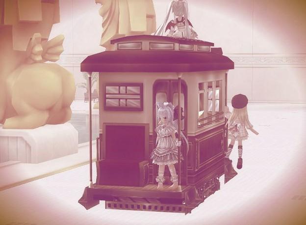 風呂を走る列車(