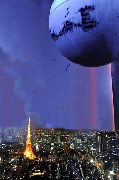 Death Star above TOKYO