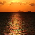 写真: 神島への光道