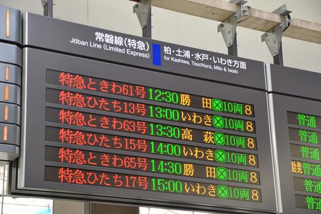 常磐特急発車標 [JR 上野駅]