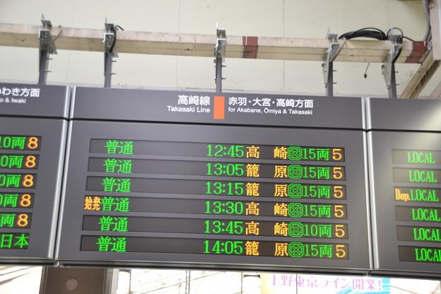 高崎線発車標 [JR 上野駅]
