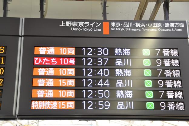 上野東京ライン発車標 [JR 上野駅]