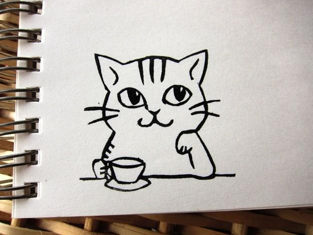 写真: Hanko_Neko_Teatime_2