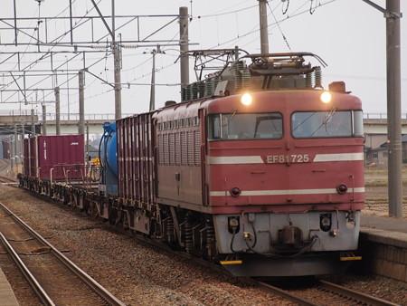 EF81貨物 羽越本線西袋駅01