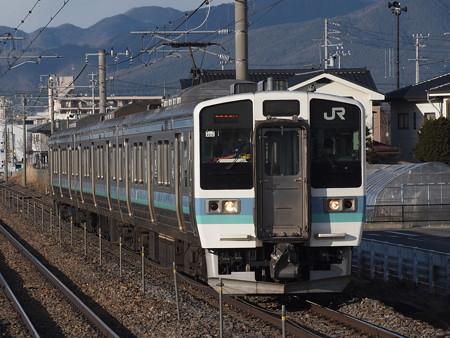 211系快速みすず 篠ノ井線平田駅