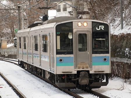 E127系普通 篠ノ井線姨捨駅
