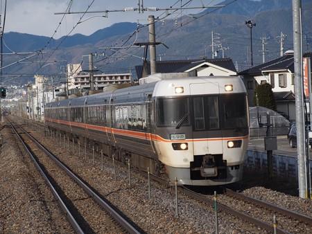 383系特急しなの 篠ノ井線平田駅