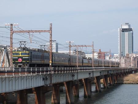 EF81 寝台特急トワイライトエクスプレスラストラン 東海道本線新大阪~大阪