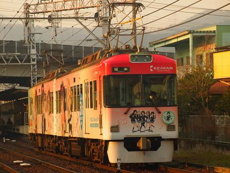 京阪700形けいおんラッピング 京阪石山坂本線皇子山~近江神宮