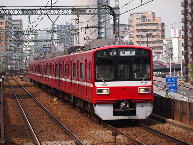 京急1500形普通 京急本線青物横丁駅