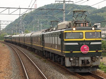 EF81 寝台特急トワイライトエクスプレス 東海道本線島本駅