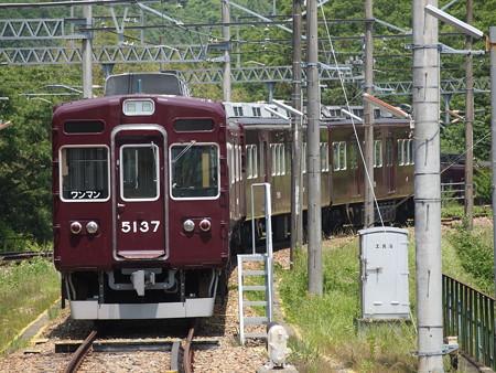 能勢電5100系 妙見線山下駅02