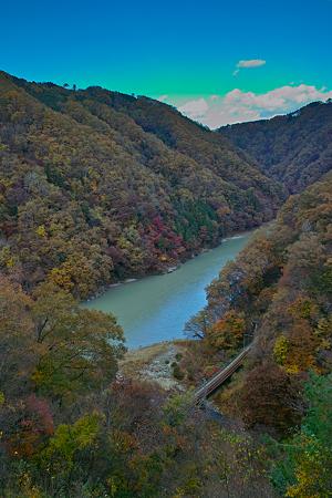 秋の泰阜渓谷(SDIM0422)