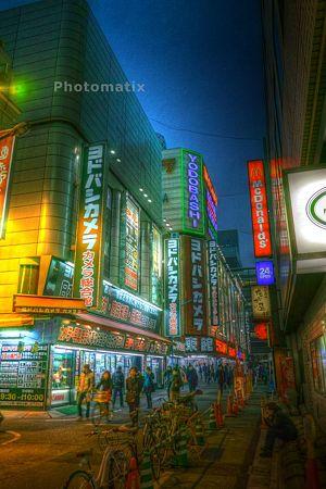 新宿の夕景HDR