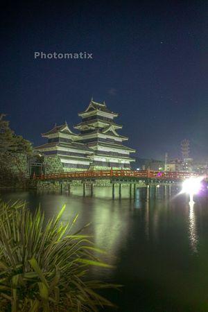 夜の松本城standHDR