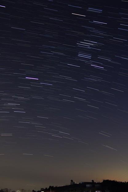 美星星空広場の天文台とオリオン座