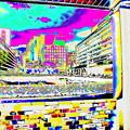 写真: 新宿西口バス停にて-01a