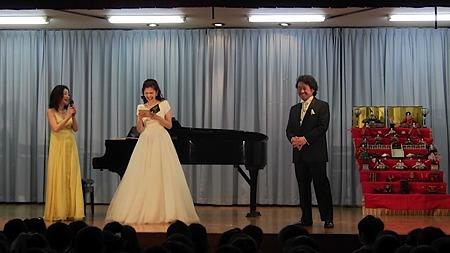 まこと幼稚園 ひなまつり コンサート 伊坪 淑子 ピアノ 倉石 真 テノール 矢崎 裕加子 ソプラノ