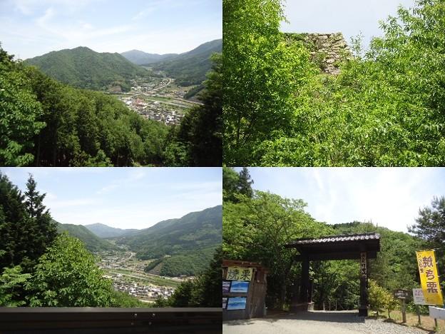 写真: 竹田城道のり