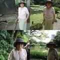 写真: 小石川後楽園にて母2