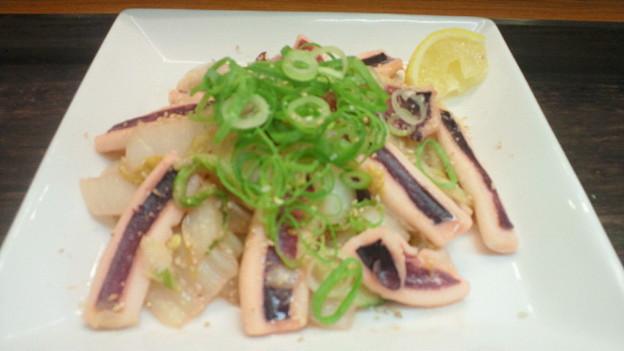 イカと白菜のにんにく柚子こ...